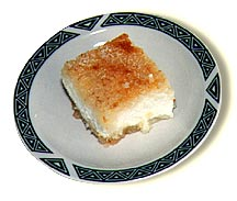 Piece of harissy with cheese